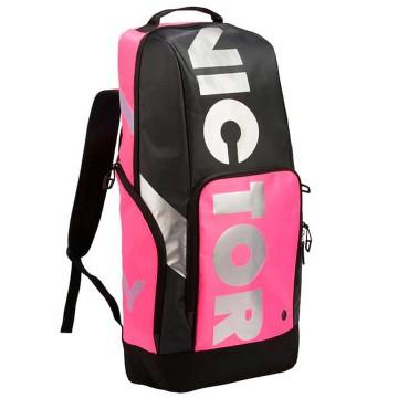【VICTOR】BR8018-QC玫瑰紅/黑 長型透氣後背包