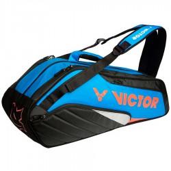 【VICTOR】BR8208FC藍/黑 12支裝雙肩後背羽拍包