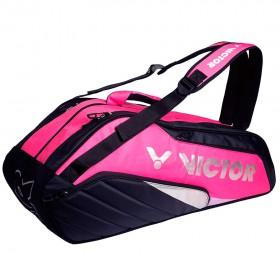【VICTOR】BR8208QC玫瑰紅/黑 12支裝雙肩後背羽拍包