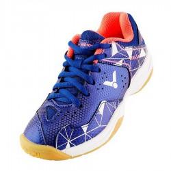 【VICTOR】A362JR-FA航海藍/白 兒童羽球鞋(零碼)