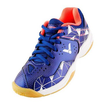 【VICTOR】A362JR-FA航海藍/白 兒童羽球鞋