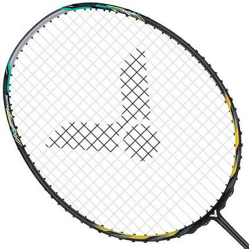 【VICTOR】神速ARS-50-C銀黑 細拍框提升揮拍速度攻防羽球拍