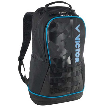 【VICTOR】BR3016CM黑/甘桂藍 雙肩專屬置鞋層多功能後背包