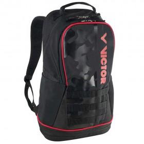 【VICTOR】BR3016CO黑/紅橘汁 雙肩專屬置鞋層多功能後背包