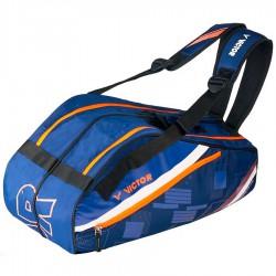 【VICTOR】BR3217B深藍 多功能前袋12支裝雙肩羽拍包