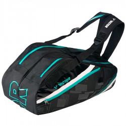 【VICTOR】BR3217C黑 多功能前袋12支裝雙肩羽拍包