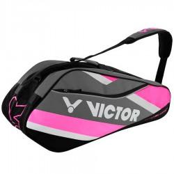 【VICTOR】BR6212Q方丹戈玫紅 12支裝單肩羽球拍包