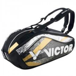 【VICTOR】BR9208CX黑/亮金 旗艦12支裝雙肩羽拍包