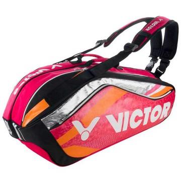 【VICTOR】BR9208Q方丹戈玫紅 旗艦12支裝雙肩羽拍包