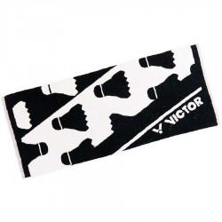 【VICTOR】C-4158C黑白 羽球設計款運動大毛巾100cm