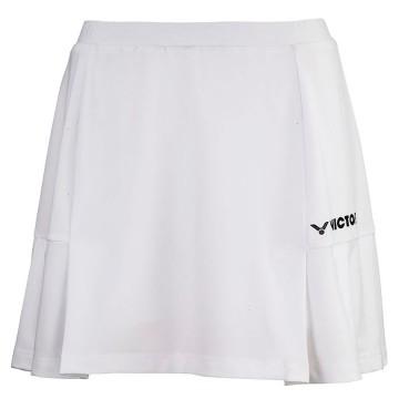 【VICTOR】K-3861A白 高彈性梭織運動短裙