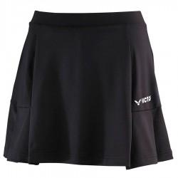 【VICTOR】K-3861C黑 高彈性梭織運動短裙