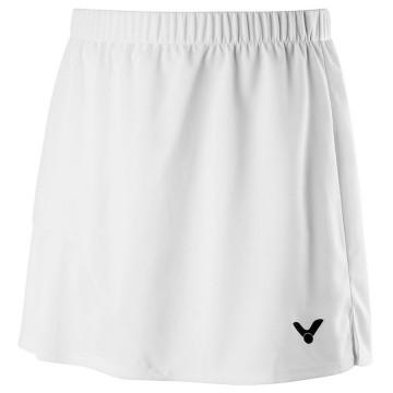 【VICTOR】K-91302A白 針織運動短裙