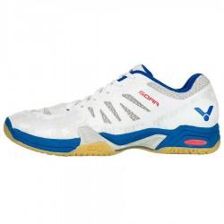 【VICTOR】SOAR-AB珠光白/深藍 雙層網布鞋面羽球鞋