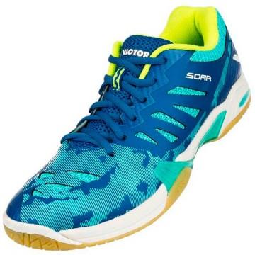 【VICTOR】SOAR-BR深藍/鸚鵡粉綠 雙層網布鞋面羽球鞋