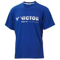 【VICTOR】T-10802B寶藍 品牌印花T-Shirt