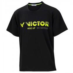 【VICTOR】T-10802C黑 品牌印花T-Shirt