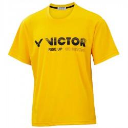 【VICTOR】T-10802E黃 品牌印花T-Shirt
