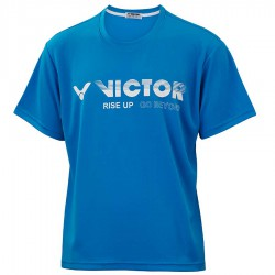【VICTOR】T-10802F藍 品牌印花T-Shirt