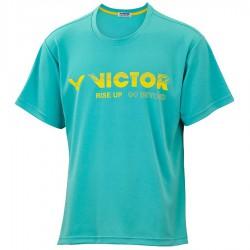 【VICTOR】T-10802U翠藍 品牌印花T-Shirt
