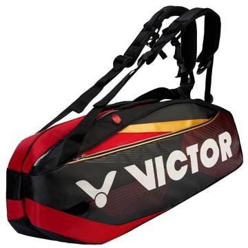 【VICTOR】BR9209CD黑跑車紅 12支裝旗艦雙肩羽網包