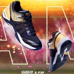 【VICTOR】S82LTD-CX黑亮金 輕韌選手羽球鞋