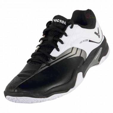 【VICTOR】A830IIICA黑亮白 超寬楦耐磨PU羽球鞋