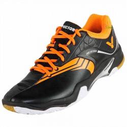 【VICTOR】A830IIICO黑亮金橘 超寬楦耐磨PU羽球鞋