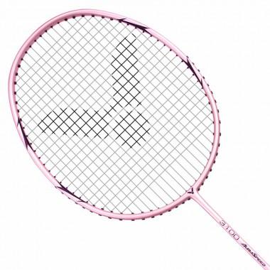 【VICTOR】神速ARS-3100I粉色 輕量碳纖維4U穿線拍
