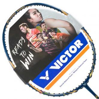 【VICTOR】極速JS-T1-B暗礦藍 台灣專屬4U輕量好上手羽球拍